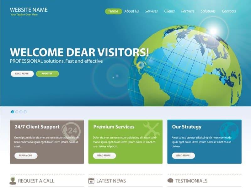 wordpress themes layout