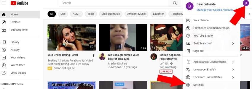 Delete YouTube Account Graphic 1