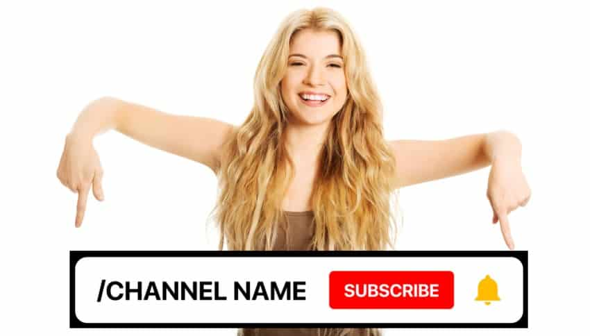 Woman changing YouTube Channel Name
